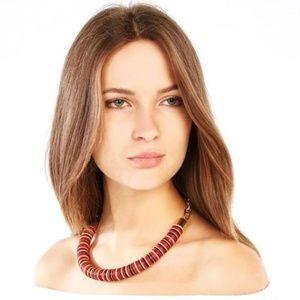 BCBGMAXAZRIA Beaded Chain Tribal Necklace Tangier